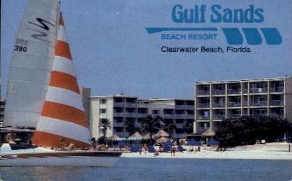 Gulf Sands Beach Resort - Clearwater Beach, Florida FL Postcard