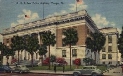 U.S. Post Office Building - Tampa, Florida FL Postcard