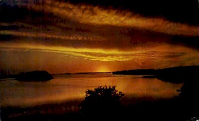 Sunset over Whitewater Bay - Everglades National Park, Florida FL Postcard