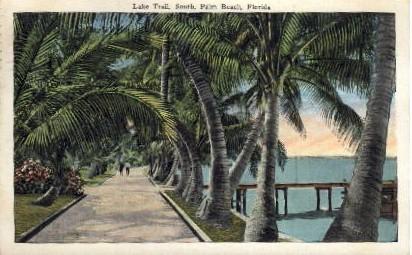 Lake Trail South - Palm Beach, Florida FL Postcard