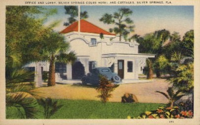 Court Hotel and Cottages - Silver Springs, Florida FL Postcard
