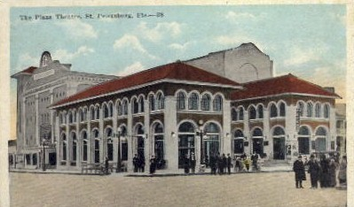 The Plaza Theatre - St Petersburg, Florida FL Postcard
