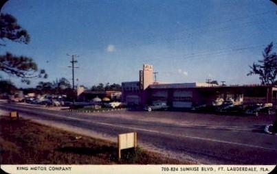 King Motor Company - Fort Lauderdale, Florida FL Postcard