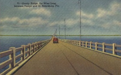 Gandy Bridge   - St Petersburg, Florida FL Postcard