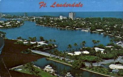 Aerial View   - Fort Lauderdale, Florida FL Postcard