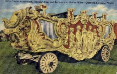 Circus Bandwagon, Ringling Bros. - Sarasota, Florida FL Postcard