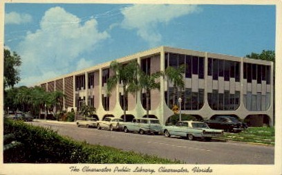 The Clearwater Public Library - Florida FL Postcard