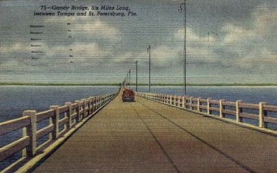 Gandy Bridge   - Tampa, Florida FL Postcard