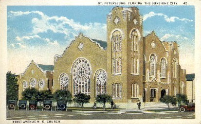 1st Avenue M.E. Church - St Petersburg, Florida FL Postcard
