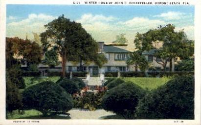 Winter Home of John D. Rockefeller - Ormond Beach, Florida FL Postcard