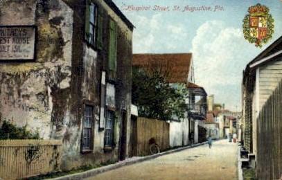 Hospital Street - St Augustine, Florida FL Postcard