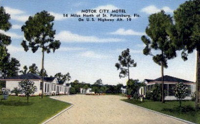Motor City Motel - St Petersburg, Florida FL Postcard