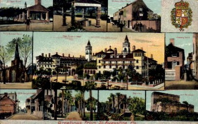 Greetings - St Augustine, Florida FL Postcard