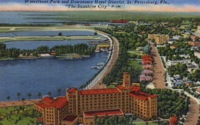 Downtown Hotel District - St Petersburg, Florida FL Postcard