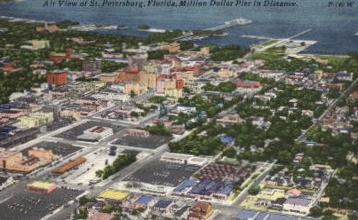 Air View of St. Petersburg - St Petersburg, Florida FL Postcard