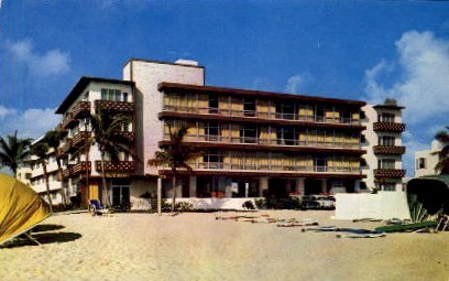 Marlin Beach Hotel - Fort Lauderdale, Florida FL Postcard