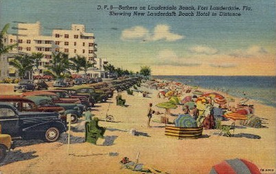 Bathers - Fort Lauderdale, Florida FL Postcard
