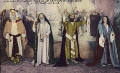 Biblical Figures - St Augustine, Florida FL Postcard