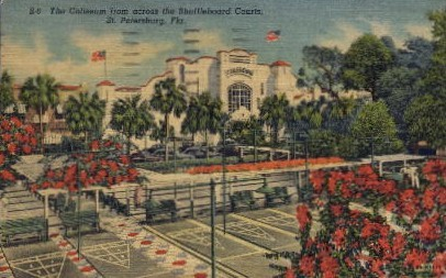 Coliseum from Shuffleboard Courts - St Petersburg, Florida FL Postcard
