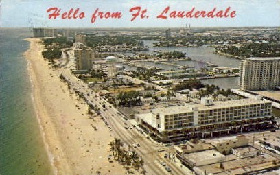 Hello  - Fort Lauderdale, Florida FL Postcard