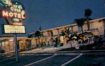 Mardi Gras Motel - Fort Lauderdale, Florida FL Postcard
