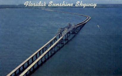 Floridas Sunshine Skyway - St Petersburg Postcard