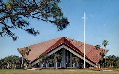 Pasadena Community Church - St Petersburg, Florida FL Postcard