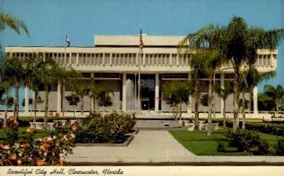 Beautiful City  Hall - Clearwater, Florida FL Postcard