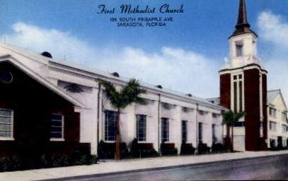 1st Methodist Church - Sarasota, Florida FL Postcard