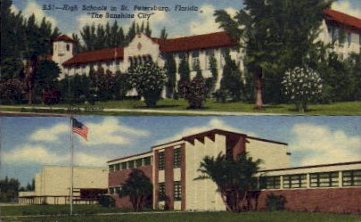 High Schools in Saint Petersburg - St Petersburg, Florida FL Postcard