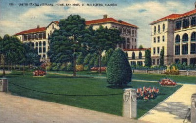 United States Veterans Home Bay Pines - St Petersburg, Florida FL Postcard