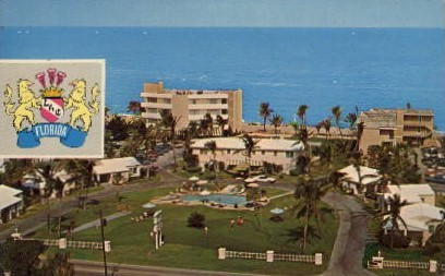 The Lighthouse Cove Apartments - Pompano Beach, Florida FL Postcard
