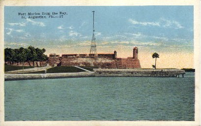 Fort Marion From the Bay - St Augustine, Florida FL Postcard
