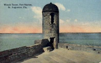 Watch Tower, Fort Marion - St Augustine, Florida FL Postcard