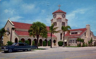 Church by the Sea - St Petersburg, Florida FL Postcard