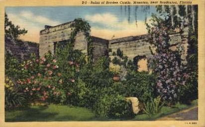 Ruins of Braden Castle - Badenton, Florida FL Postcard