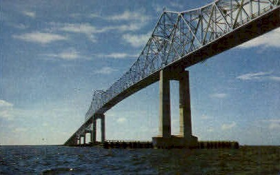 Sunshine Skyway - St Petersburg, Florida FL Postcard