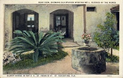 Oldest House in the U.S. - St Augustine, Florida FL Postcard