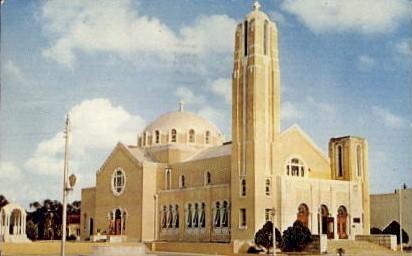 Greek Cathedral - Tarpon Springs, Florida FL Postcard