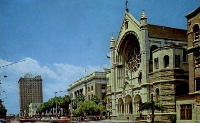 Florida Avenue Looking North - Tampa Postcard