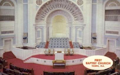 1st Baptist Church - Tampa, Florida FL Postcard