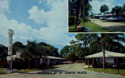 Plaza Motel - Bradenton, Florida FL Postcard