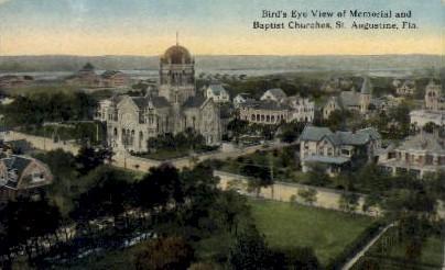 Memorial & Baptist Churches - St Augustine, Florida FL Postcard