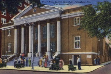 First Baptist Church - St Petersburg, Florida FL Postcard