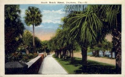 South Beach Street - Daytona, Florida FL Postcard