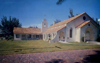 The Little White Church by the Sea - Clearwater Beach, Florida FL Postcard