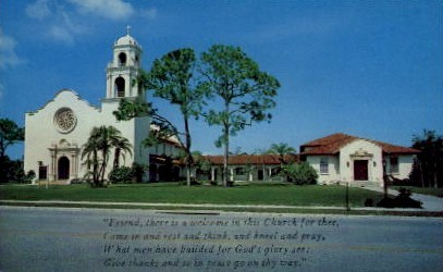Christ Episcopal Church - Bradenton, Florida FL Postcard