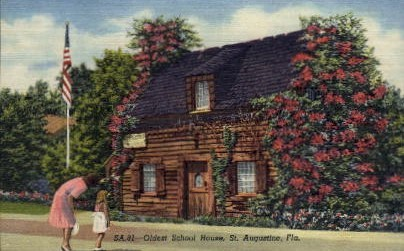 The Oldest School House - St Augustine, Florida FL Postcard