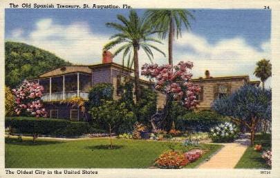 The Old Spanish Treasury - St Augustine, Florida FL Postcard