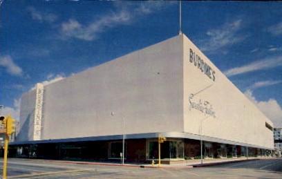 Burdine's Sunshine Fashions - West Palm Beach, Florida FL Postcard